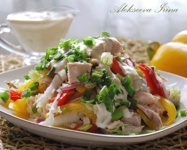 салат куриным филе фото