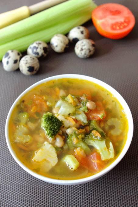 Овощной суп на курином бульоне рецепты